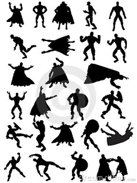 Superman Siluet silhouettes royalty free stock images image