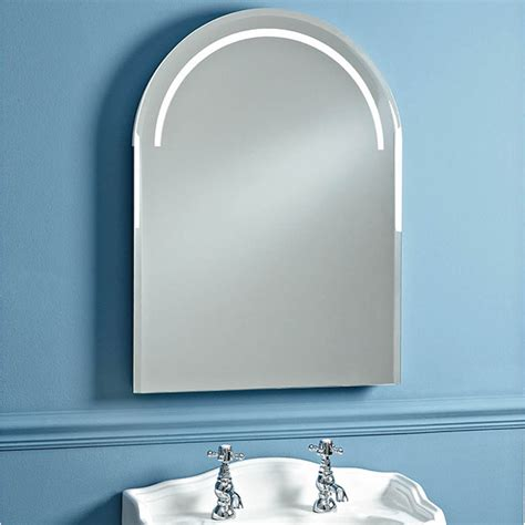 balmoral arched bathroom mirror with demister