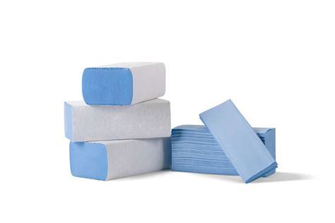 Paper Towel Folding - z fold blue paper towel haccp approved