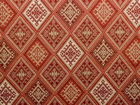 kilim upholstery brockhall designs kilim weave chenille red ivory fabric