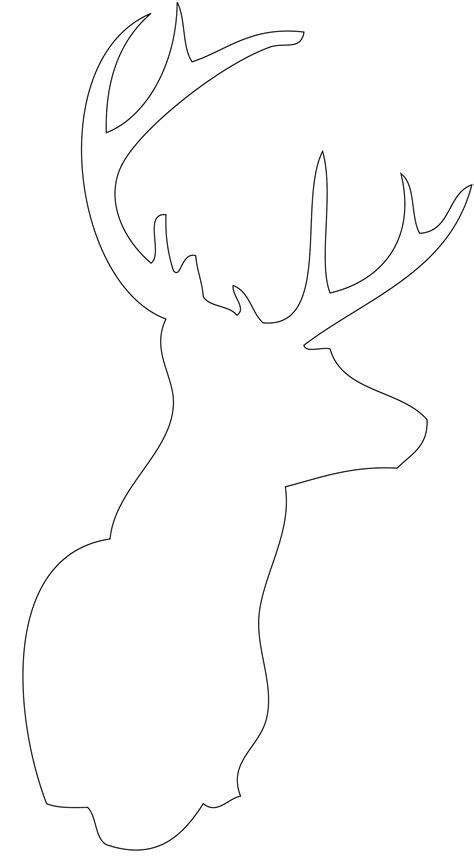 reindeer head template new calendar template site