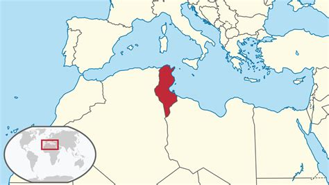 where is tunisia located on a map location of the tunisia in the world map