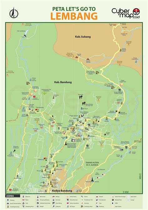 map of bandung city lembang tourism map lembang mappery