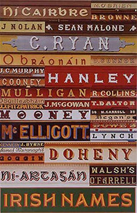 Irish Posters  Family Names Of Ireland