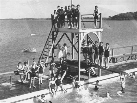 pedal boat brisbane bathers at the manly swimming baths brisbane queensland