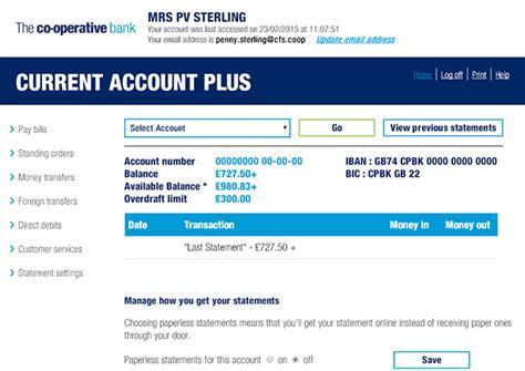 bank account uk the co operative bank banking demo