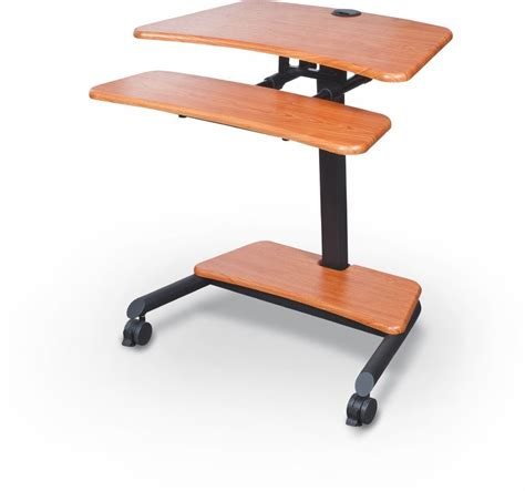 adjustable height sit stand desk up rite workstation height adjustable sit stand desk