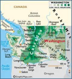 washington large color map