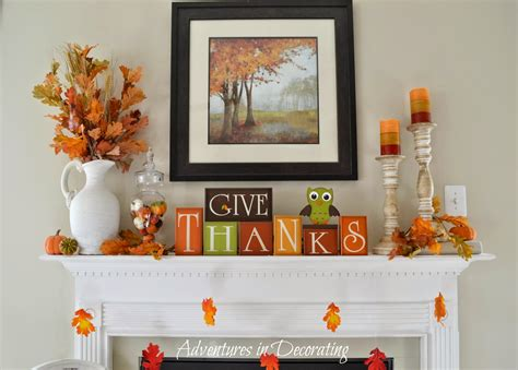 encore home decor adventures in decorating our simple fall mantel