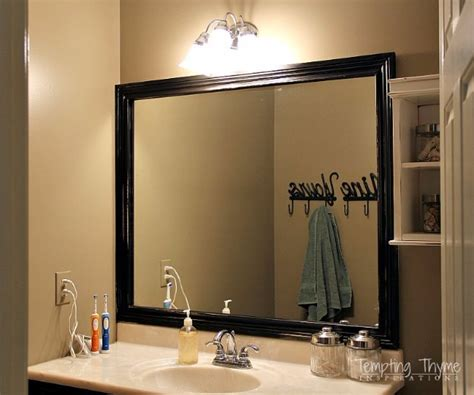 41 Clever Home Improvement Hacks Bathroom Mirror Trim