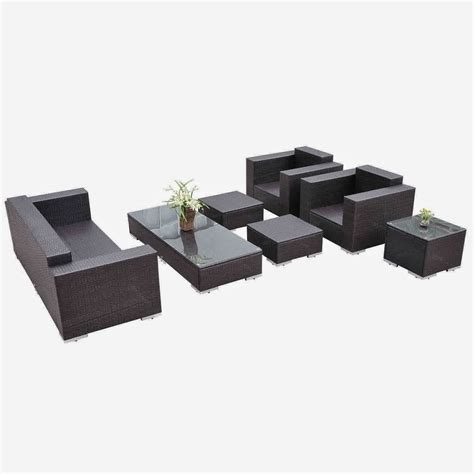 Rattan Sectional Sofa Outsunny 7pc Pe Rattan Wicker Sectional Patio Sofa Furniture Set Outdoor Patio Furniture Sofa