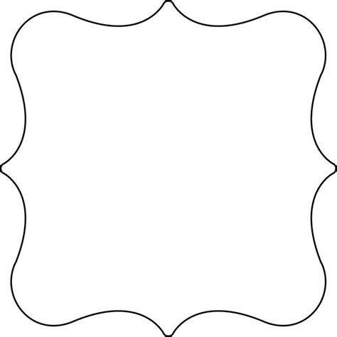 Fancy Card Shape Template by Birthday Cake Outline Cliparts Co