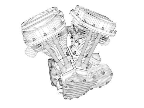 harley motors through the years panhead harley motorcycle engine 3d model obj 3ds fbx c4d
