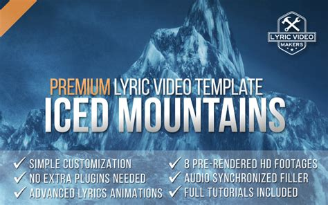 premium lyric video template quot iced mountains quot how to
