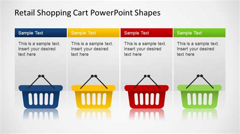 Retail Shopping Cart Powerpoint Shapes Slidemodel Retail Ppt Templates Free