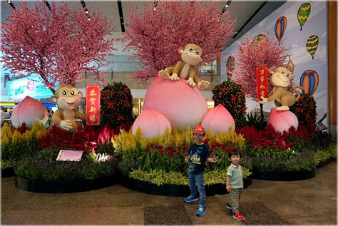 new year decorations changi airport singapore