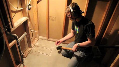 how do you install a bathtub how to cut through a concrete foundation bathroom