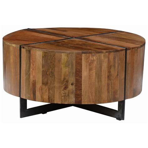 classic home desmond mango wood coffee table with