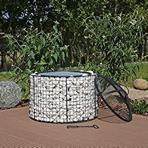 diy pit mesh gabion firepit gfs2 with grill co uk garden outdoors