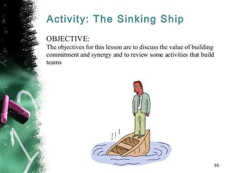 sinking ship activity team building creating effective teams