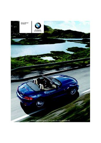 car owners manuals free downloads 2009 bmw z4 electronic toll collection 2009 bmw z4 sdrive30i roadster owner s manual pdf 248 pages