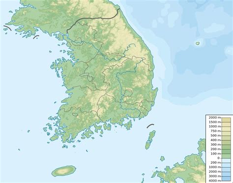 korea physical map file south korea physical map svg wikimedia commons