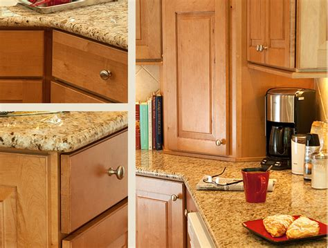 maple cabinets with granite countertops maple caramel kitchen cabinets mendota door style