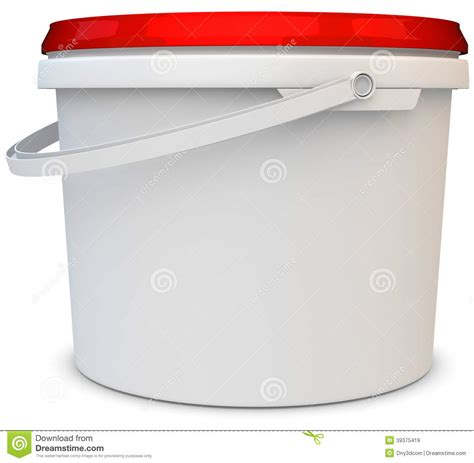 paint plastic bathtub 3d blank white tub paint plastic bucket container stock illustration image 39375419