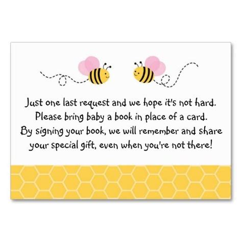 Bee Card Template by 25 Best Images About Pink Bumble Bee Baby Shower Birthday