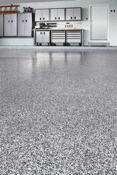 grey white & black epoxy garage flooring   Google Search