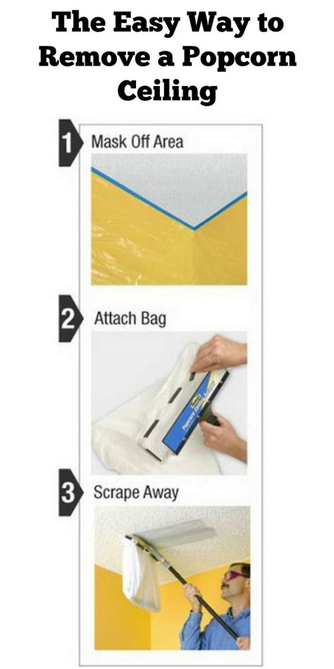 Easy Way To Remove Popcorn Ceilings by 17 Best Ideas About Popcorn Ceiling On Cover