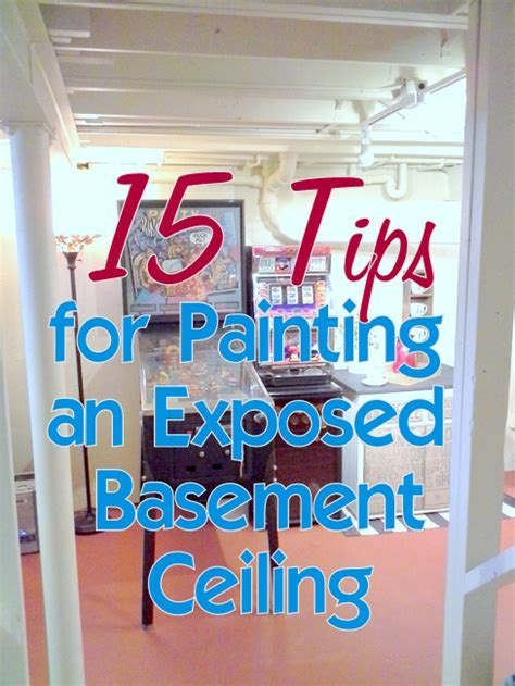 Tips On Painting A Ceiling by Tips For Painting An Exposed Basement Ceiling Stow Tellu