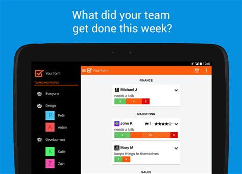 Android Weekly by Weekdone Weekly Team Reports Android Apps On Play