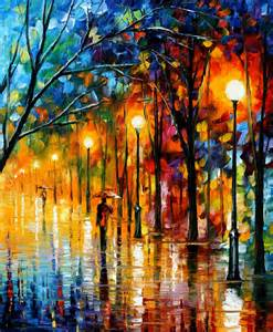 the colors of winter palette knife oil painting on
