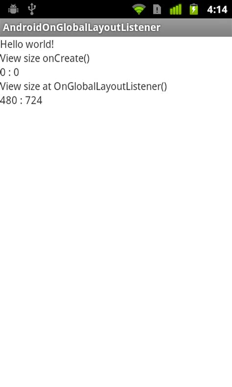 android view layout listener android coding get width and height of view in