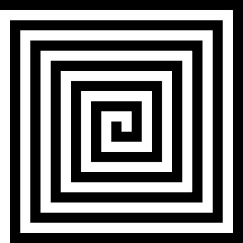 pattern of black and white squares 12 letters free vector graphic spiral square pattern black free