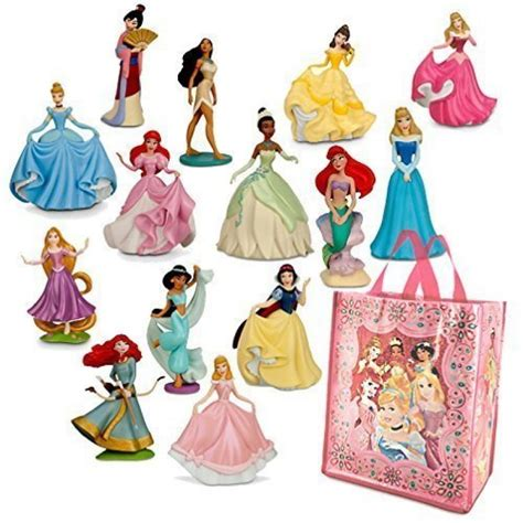 Figure Princess disney princesses mini figure play sets 1 2 and tote bag