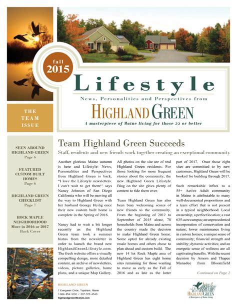 Custom Floor Plans For New Homes highland green newsletters highland green retirement