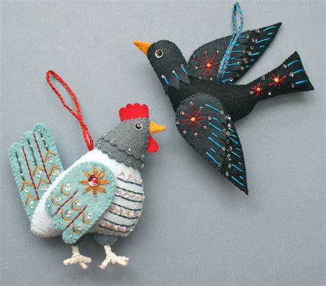 Ornaments Handmade Crafts - mmmcrafts handmade gifts 2011 hen and colly bird