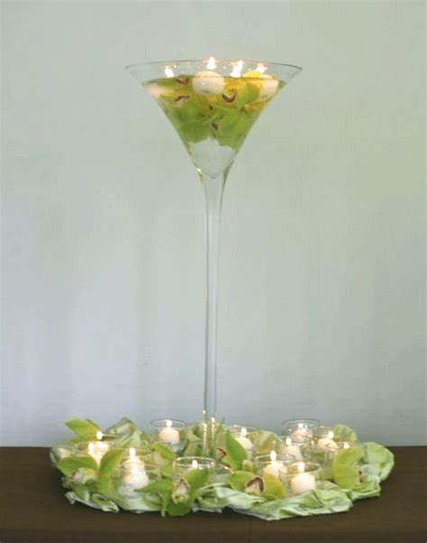 Martini Vases For Weddings by Lele Floral Martini Vases