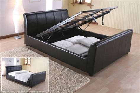 cheap double ottoman beds bedworld discount leather beds