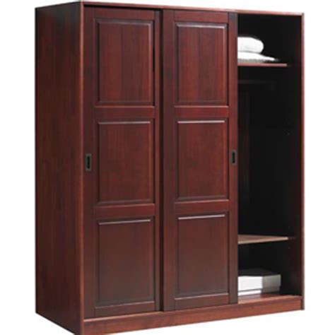 Pintu Panel Custom Coklat sliding door closet wardrobe solid wood 3 sliding door