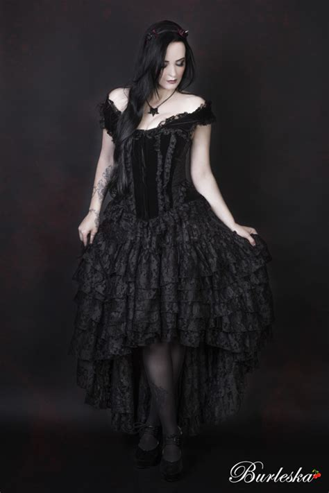 amelia black lace high low skirt clothing