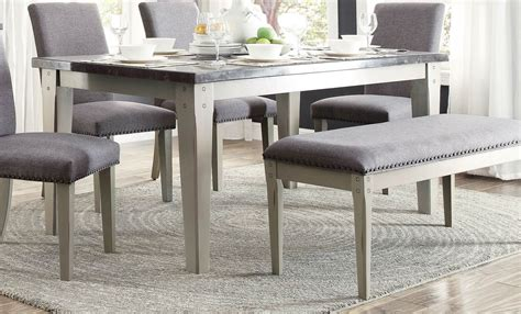 best 20 gray dining tables ideas on dinning homelegance mendel dining table bluestone marble top grey 5280 64