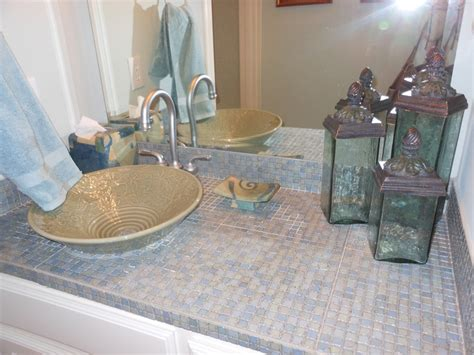 mosaic bathroom countertop 17 best images about tile bathroom countertop on pinterest mosaic tiles travertine