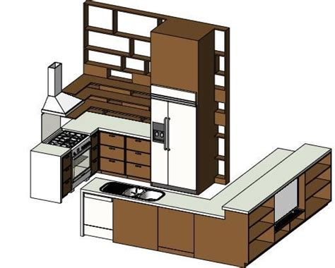revitcity object mid size kitchen revit 2011