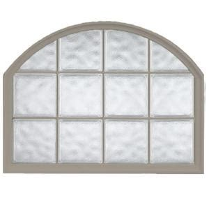 hy lite 42 in. x 50 in. acrylic block arch top vinyl glass
