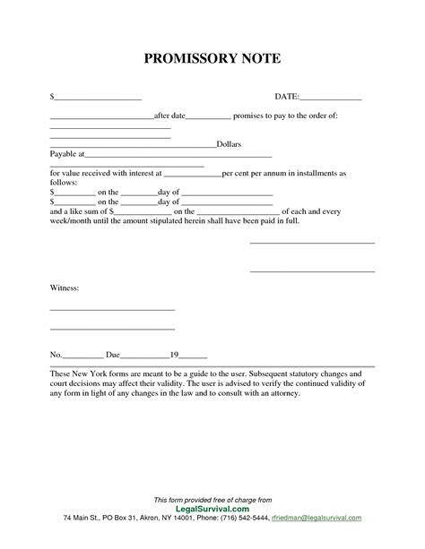 promissory agreement template permalink to free promissory note template products