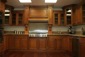 Kitchen Closets And Cabinets Interior Ideas Brown Wooden Maple Kitchen Cabinets