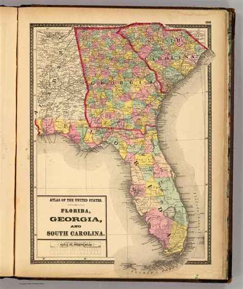 map of florida and south carolina map